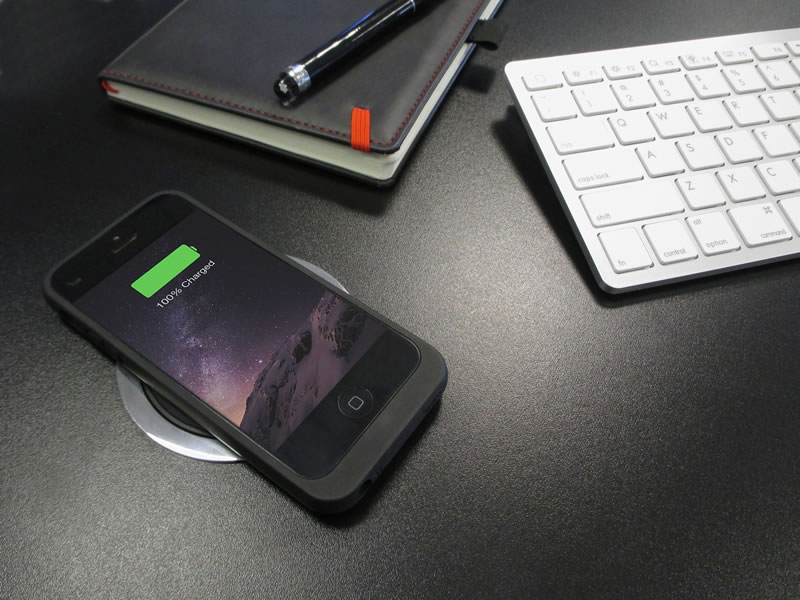 wireless charging case iphone 5 5s se black. Black Bedroom Furniture Sets. Home Design Ideas