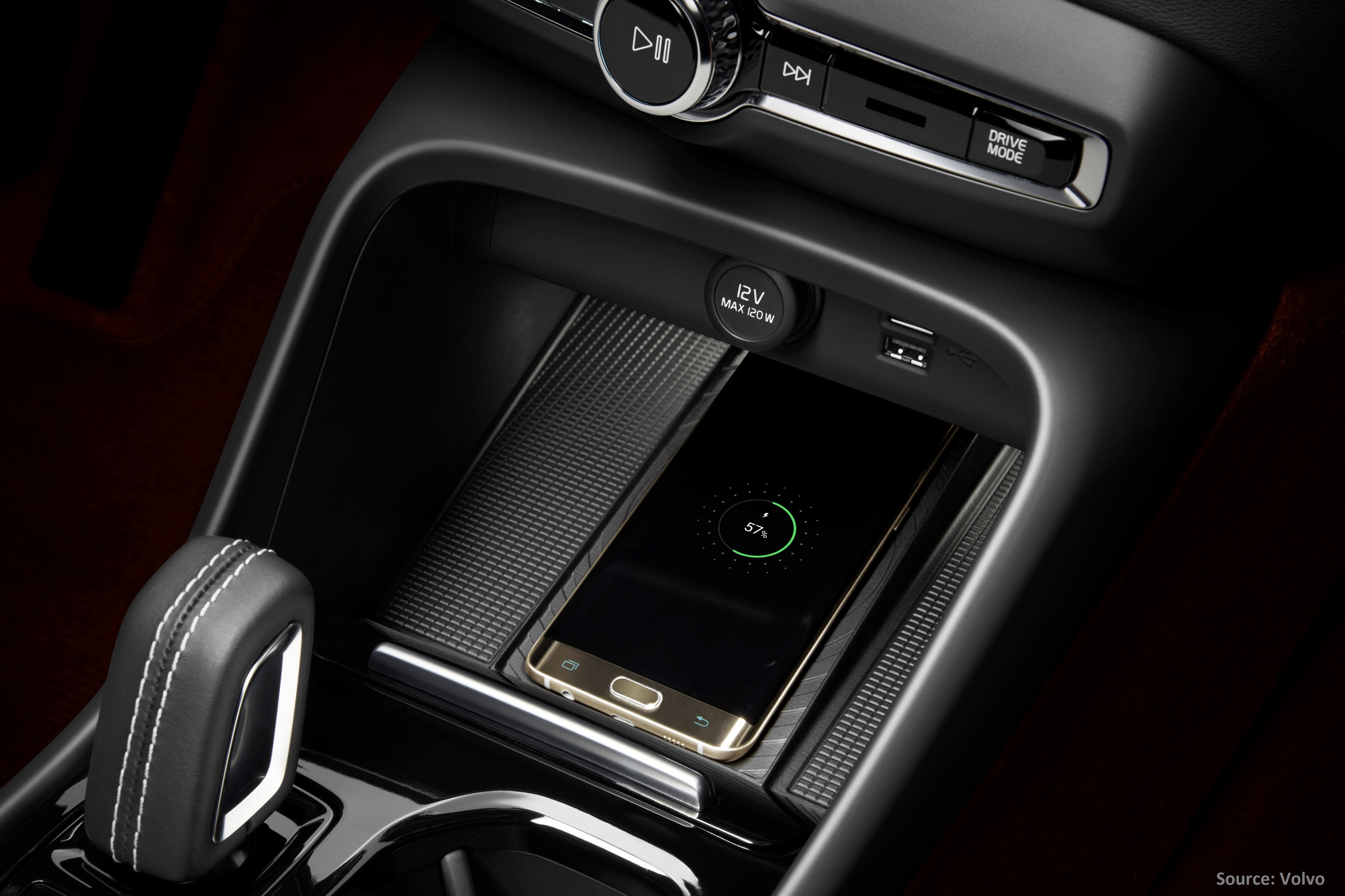 Volvo wireless charging Aircharge