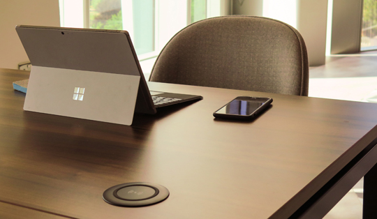 Wireless charging for workspaces