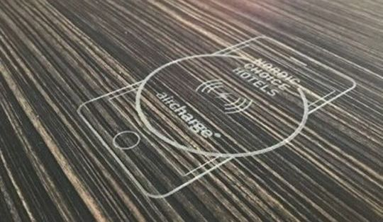 Wireless charging power for hotels