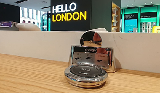 wireless charging for shops