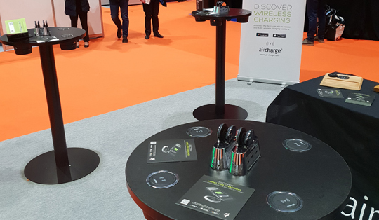 wireless charging solution for exhibition
