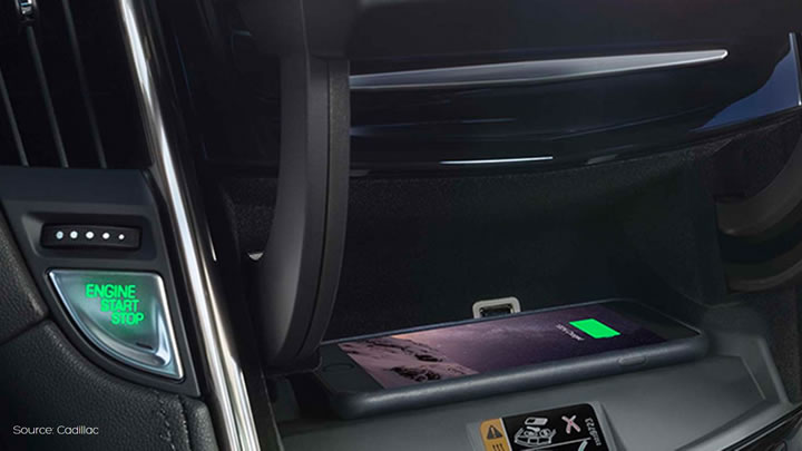 Cadillac wireless charging - Aircharge