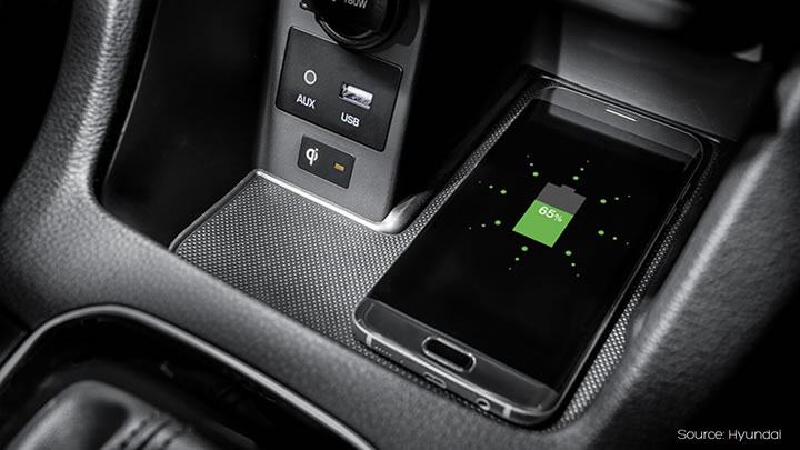 car kit and wireless charger