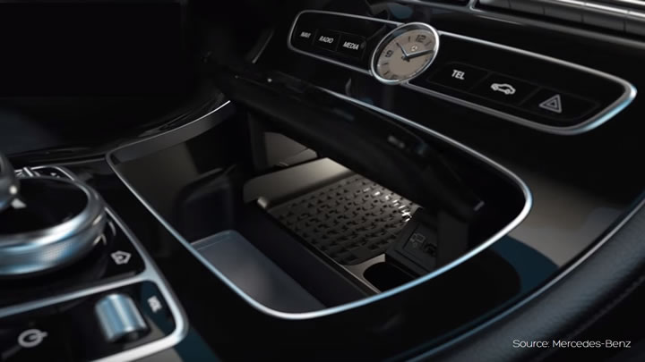 Mercedes-Benz wireless charging - Aircharge