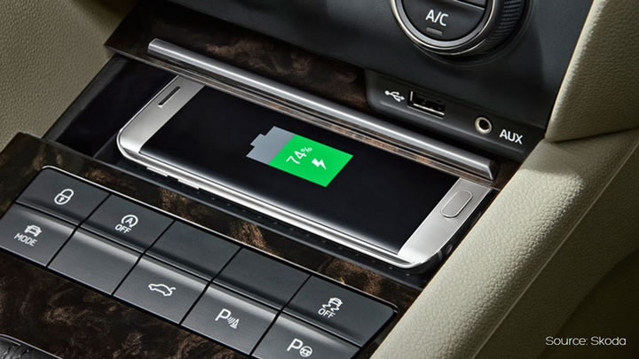 Skoda Wireless Charging Aircharge