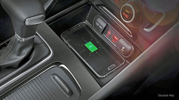 Aircharge | In Car Qi Wireless Charging Features in the New